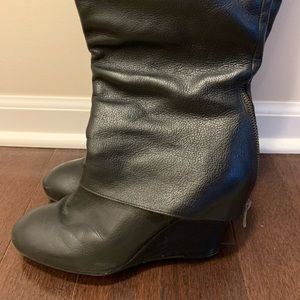 Steve madden gently used knee-high boots